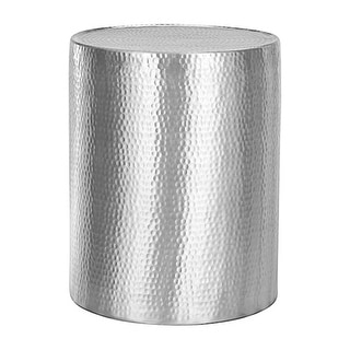 Link to Lyric Hammered Side Table/Stool Similar Items in Living Room Furniture