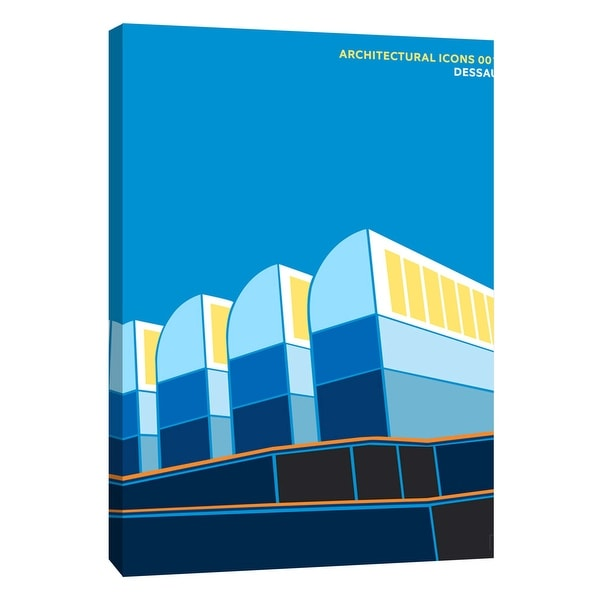 """PTM Images 9-105810 PTM Canvas Collection 10"""" x 8"""" - """"Architectural Icons 1"""" Giclee Architecture Art Print on Canvas"""