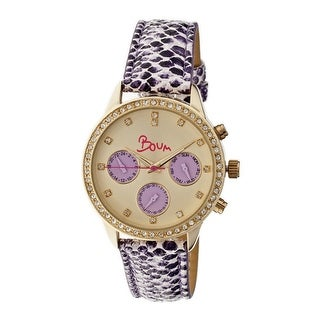 Boum Serpent Women's Quartz Multi-function Watch, Genuine Leather Band, Luminous Hands