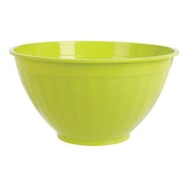 B & R Plastics FB7-24CH Fluted Plastic Bowl, Chartreuse color