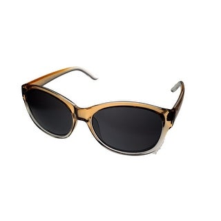 Kenneth Cole Reaction Womens Plastic Sunglass Crystal Brown, Gradient KC1290 74B - Crystal Brown - Medium