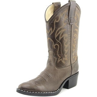 Old West J Toe Western Pointed Toe Leather Western Boot