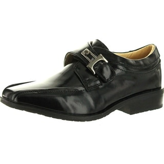 Robertino Boys 445 European Style Dress Shoes With Buckle Detail