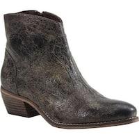 Diba True Women's Plen Tee Cowboy Boot Charcoal Leather