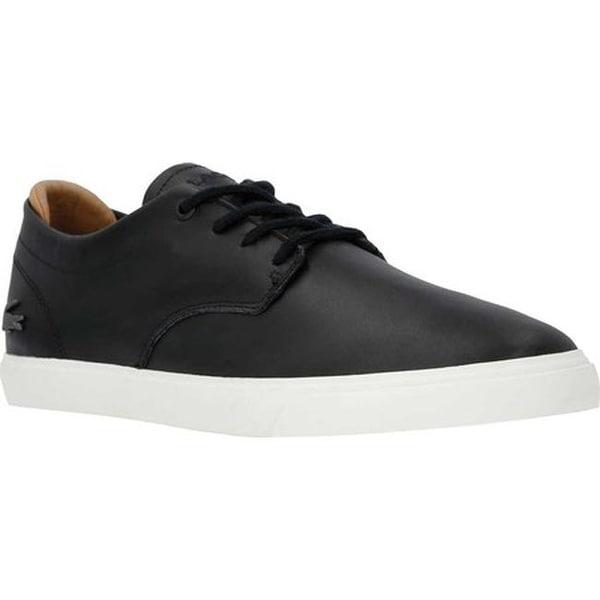 7ab3e01f5 Shop Lacoste Men s Espere Leather Sneaker Black Off White Leather ...