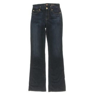 7 For All Mankind Womens Kimmie Bootcut Jeans Denim Form Fitted - 24