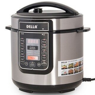 Della 8-in-1 Multi-Functional Programmable Pressure Cooker ETL UL CSA, 6 QT, 1000-WATT