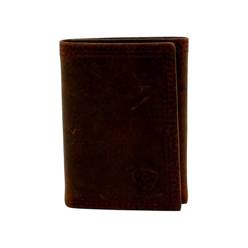 Ariat Mens Rowdy Trifold Brown Wallet