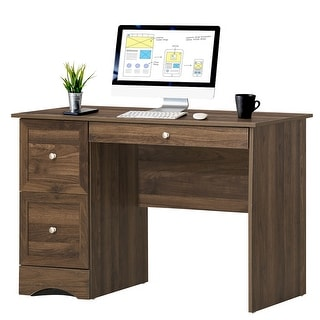 Link to Costway Vintage Computer Desk Home Office Study Table Spacious Similar Items in Computer Desks