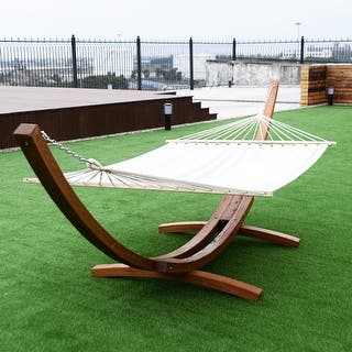 Costway 161'' Wooden Curved Arc Hammock Stand W/ Hammocksize Outdoor Patio Garden Swing|https://ak1.ostkcdn.com/images/products/is/images/direct/a970a72ad31cd21c9d0abb0129e40039e9f85d42/Costway-161%27%27-Wooden-Curved-Arc-Hammock-Stand-W--Hammocksize-Outdoor-Patio-Garden-Swing.jpg?impolicy=medium