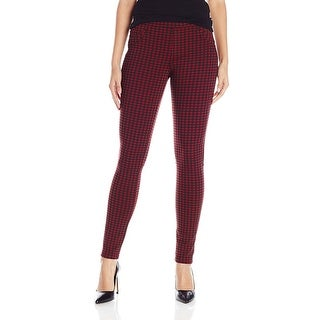 Sanctuary Check Printed Ponte Grease Pull On Leggings Pants - M