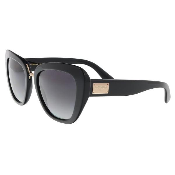 92818862035 Shop Dolce   Gabbana DG4296 501 8G Black Butterfly Sunglasses - 53 ...