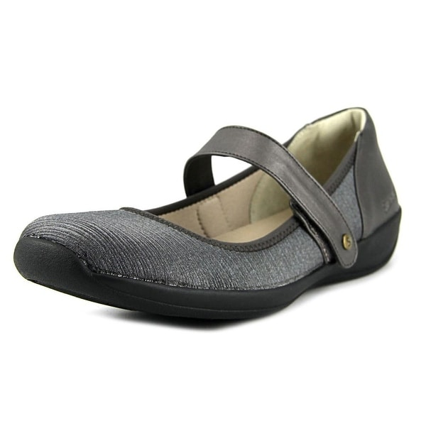 Stretchies Margaret II W Round Toe Canvas Mary Janes