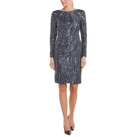 Nightway Sheath Dress - GUNMETAL