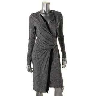 BOSS Hugo Boss Womens Front Wrap Knee-lengh Wear to Work Dress