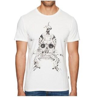 Just Cavalli NEW White Black Men Size XL Skull Graphic Print Tee Shirt