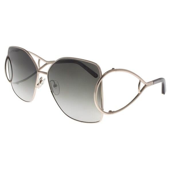 885b16f7ad61 Shop Chloe CE135 S 744 Light Gold Grey Butterfly Sunglasses - 63-15 ...