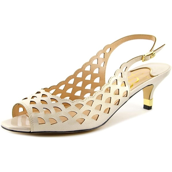 J. Renee Peppi Women W Open-Toe Synthetic Ivory Slingback Heel