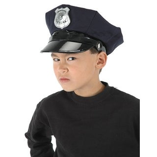 Police Officer Child Costume Hat - Black