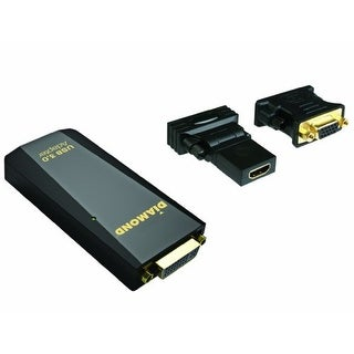 """DIAMOND DMMBVU3500B Diamond Multimedia USB 3.0/2.0 to DVI/HDMI/VGA Adapter for Multiple Display Monitor (BVU3500)"""