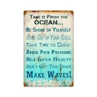 Past Time Signs  Take It From Ocean Home And Garden Vintage Metal Sign