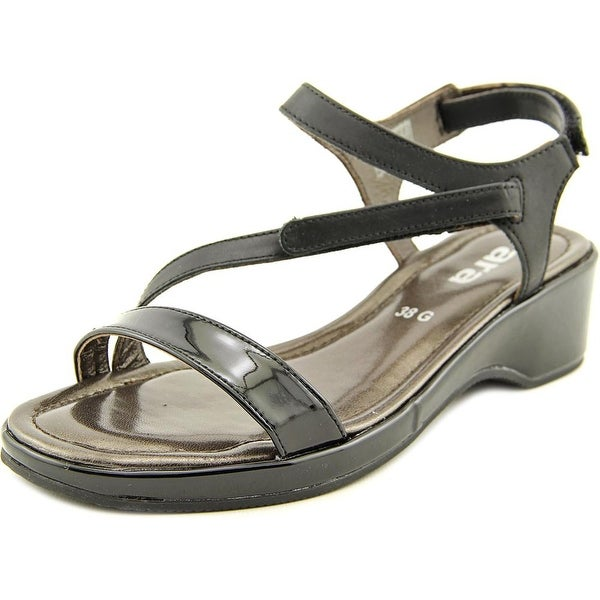 Ara Regina Open Toe Patent Leather Sandals