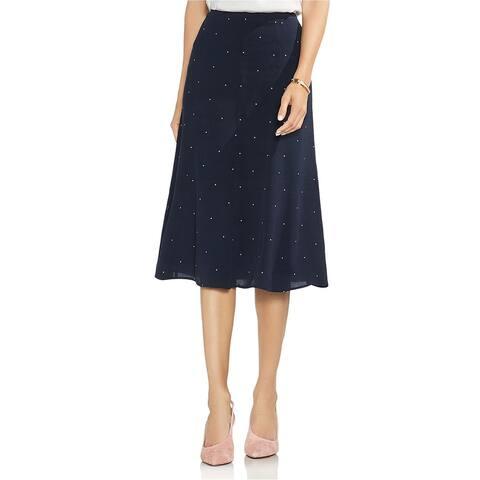 Vince Camuto Womens Soho Pindot A-line Skirt, Blue, 12