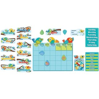 Carson-Dellosa Boho Birds Calendar Bulletin Board Set, For Use With Grades P - 3 (ages 4 - 8), Set of 78
