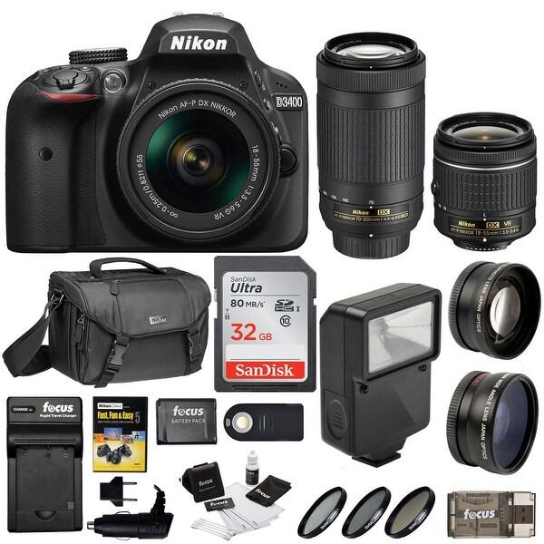 Nikon D3400 DSLR Camera Black W 18 55mm Amp 70