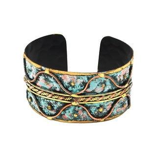 Anju Jewelry Women's Verdigris Patina Weave Cuff Bracelet - Brass and Copper