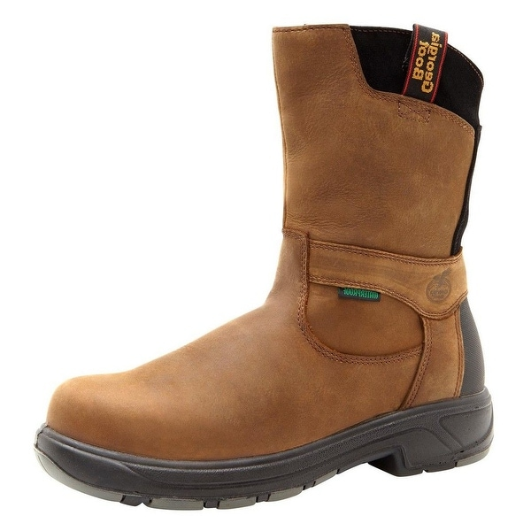 "Georgia Boot Work Mens 10"" Flexpoint WP Composite Toe Brown"