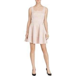 Mystic Womens Juniors Party Dress Textured Sleeveless