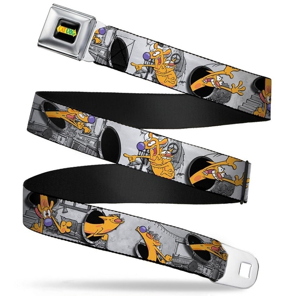 Cat Dog Logo Full Color Black Yellow Red Blue Catdog House Poses Grays Seatbelt Belt