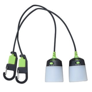 Kilimanjaro 2 Piece USB Lantern, Light, Rechargeable, Compact - 910271E