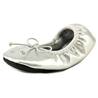 Natural Steps Fame Infant Round Toe Synthetic Silver Ballet Flats