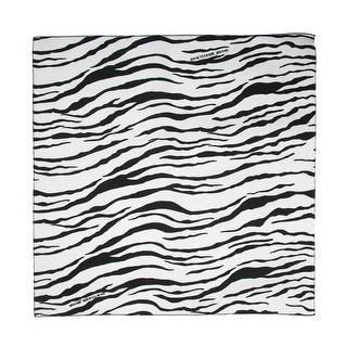 CTM® Women's Cotton Zebra Print Bandanas - White - One Size