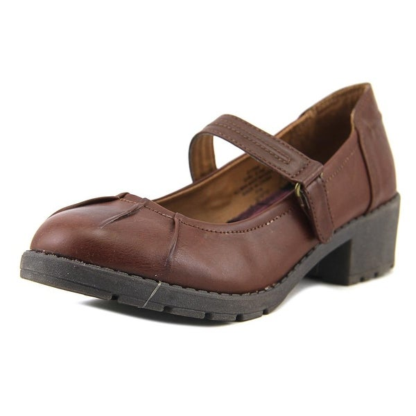 Kensie Girl Gail Women Round Toe Synthetic Brown Mary Janes