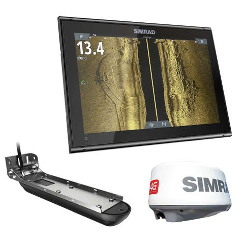 Simrad GO12 XSE Combo 000-14856-001 GO12 XSE with Active Imaging 3-in-1 - C-MAP Pro plus Broadband 4G Radar