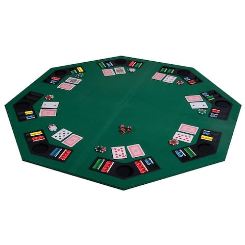 """48"""" 8 Players Octagon Fourfold Poker Table Top - 48"""" x 48"""" (L x W)"""