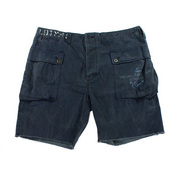 c4a31c220d Polo Ralph Lauren NEW Blue Mens Size 36 Relaxed-Fit Herringbone Shorts