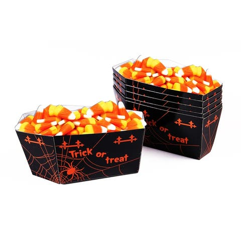 Halloween Coffin Candy Cups Pack of 6 - Black