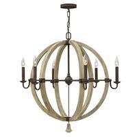 Fredrick Ramond FR40566 6-Light 1 Tier Chandelier from the Middlefield Collection - iron rust - n/a