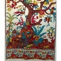Handmade 100% Cotton Tree of Life Tab Top Curtain Drape Panel - 8 Color options - Black Gold Blue Purple Tan - 44 x 88 inches - Thumbnail 23