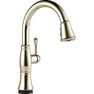 Delta 9197T-DST  Cassidy Pull-Down Kitchen Faucet with On/Off Touch Activation and Magnetic Docking Spray Head and ShieldSpray