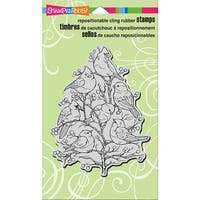 """Stampendous Cling Stamp 7.75""""X4.5""""-Bird Tree"""