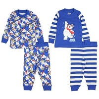Intimo Baby Infant Frosty the Snowman 4-Piece Pajama Set