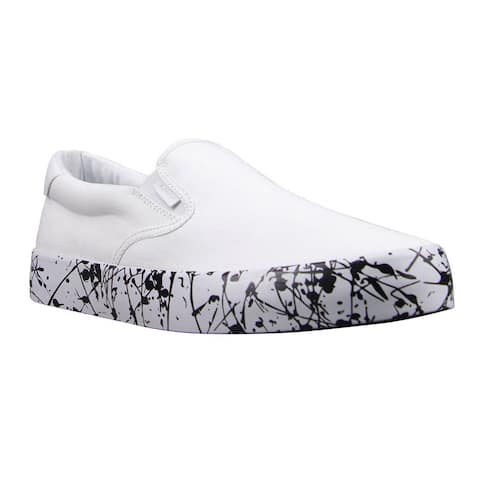 Lugz Clipper Splash Slip On Mens Sneakers Shoes Casual - White