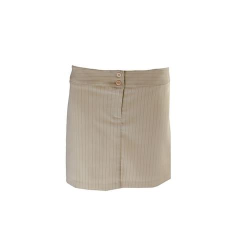 Laundry By Shelli Segal Tan Pinstripe Mini Skirt 6