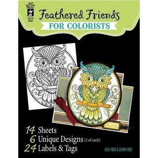 "Hot Off The Press Coloring Book 5""X6""-Birds & Owls"