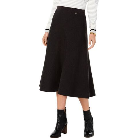 Tommy Hilfiger Womens A-Line Skirt Sweater Trumpet